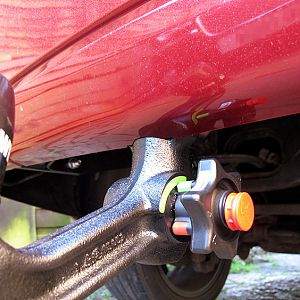 Westfalia towbar, bumper notch