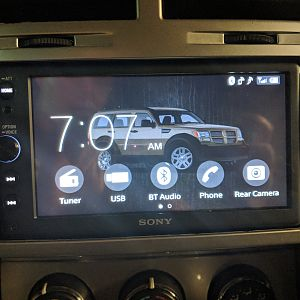 New Sony radio with custom background