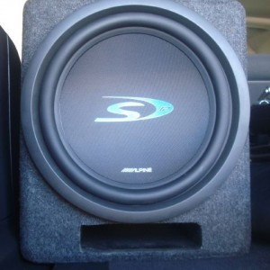 Front view of subwoofer