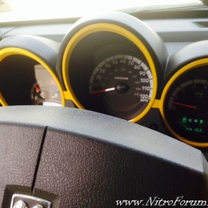 Color Matched Interior Gauge Trim