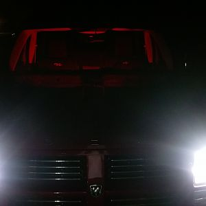 Red interior LEDs