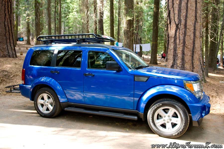 Nitro With Roof Rack Cargo Basket And Rear Basket Dodge